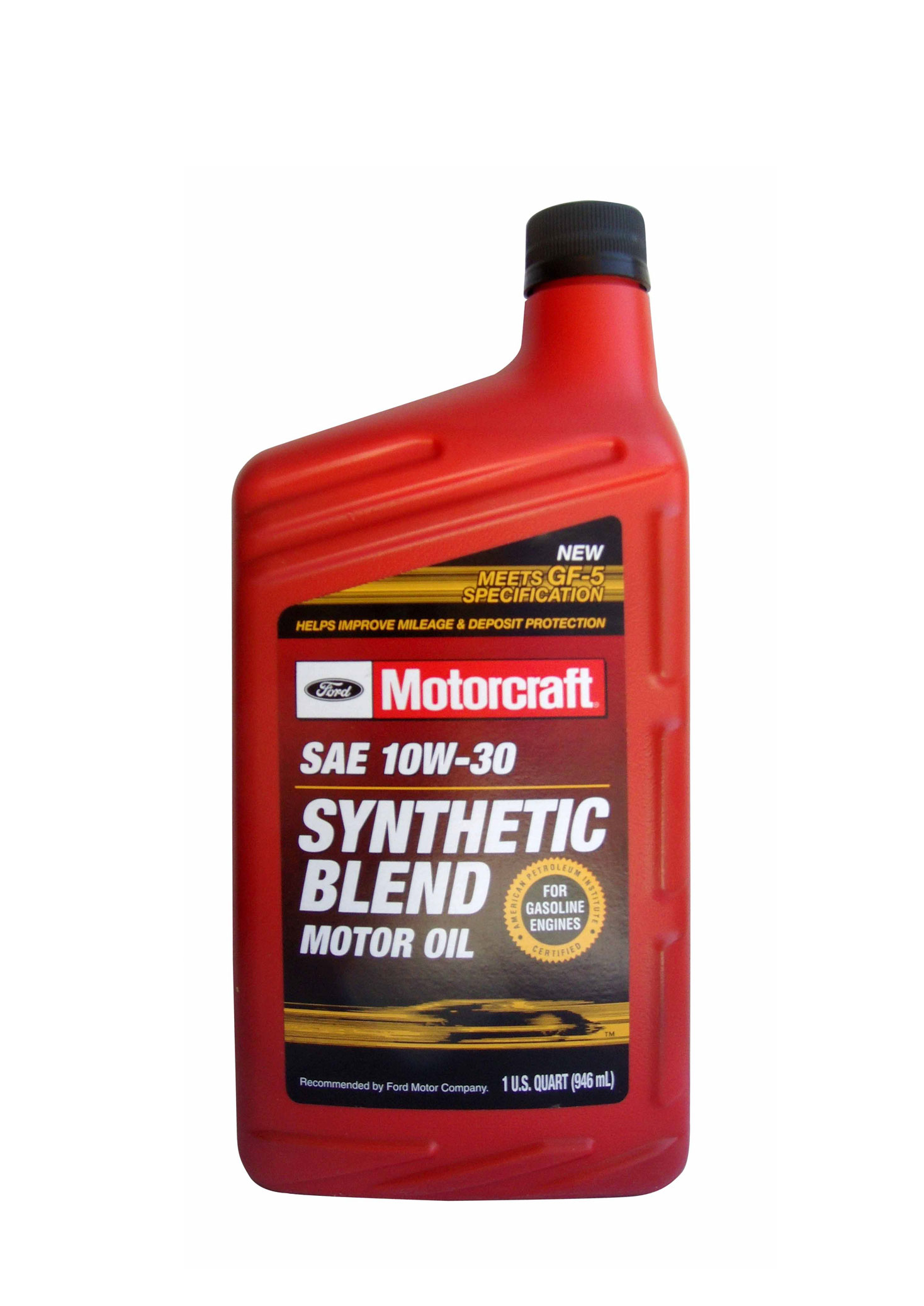for Motorcraft synthetic blend motor oil