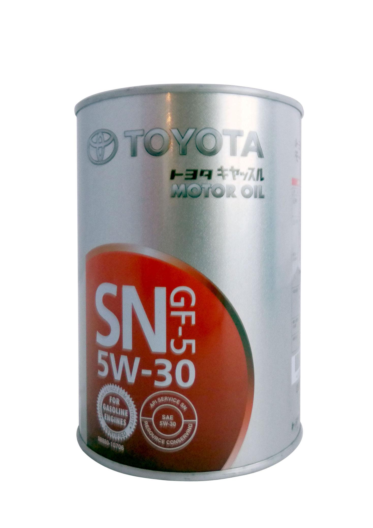 toyota motor oil 5w-30 мин. sn/cf характеристики